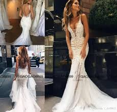 fishtail wedding dress pallas couture 2017 lace floral mermaid wedding