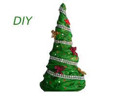 how to make christmas tree with a t shirt youtube
