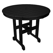 42 Inch Round Patio Table by Arlington House Glenbrook Black 42 In Round Mesh Patio Dining