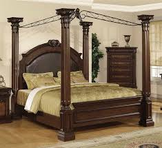 Victorian Canopy Bed Furniture Antique Solid Oak Canopy Bed With Classic Style Design
