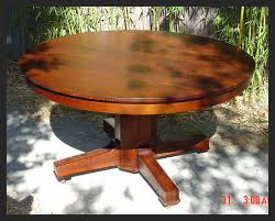 mission style round dining table round designs