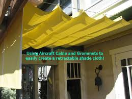 Roll Up Awnings Decks Diy Simple Retractable Shade Cloth Use A Wire Cable Set Place