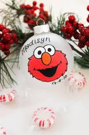sesame street elmo christmas ornament personalized for free