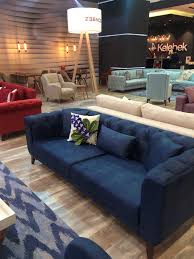 Navy Blue Sofas by 3 Seater Sofa Couch Cesnna Navy Blue By Home Designer Goods