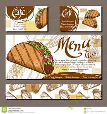 restaurants menu templates free cafe menu with hand drawn design fast food restaurant menu royalty free vector