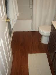 wood plank bathroom floors