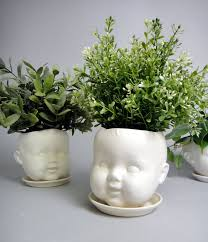 Large Head Planters Porcelain Baby Doll Head Planter Or Candy Dish By Reshapestudio
