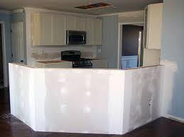 kitchen island wall installing a half wall kitchen island dining office