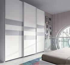 dressing chambre à coucher design interieur armoire dressing blanche élégante accents gris
