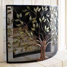 Decorative Fireplace by Tree Of Life Decorative Fireplace Screens Homescorner Com