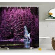purple bathroom sets ykcg wisteria flowers tree purple violet floral waterproof fabric