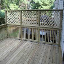 townhouse living diy lattice privacy fence lattice deck privacy