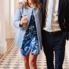dress and jacket for wedding dress blue white girl boy boyfriend date dress wedding