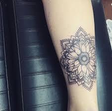 50 amazing sunflower tattoo ideas hippie boho mandala and