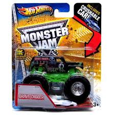 monster jam monster truck amazon com wheels monster jam 2013 grave digger 1 64 scale