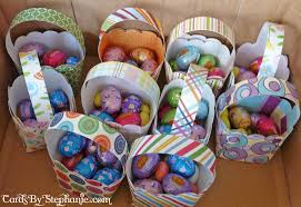 Homemade Easter Baskets by Easy Paper Easter Baskets U2013 Cards By Stephanie