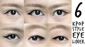 liquid eyeliner tutorial asian k pop inspired korean style eyeliner tutorial youtube
