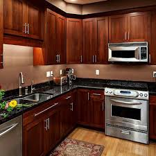 kitchen wall colors with cherry cabinets dark counter tops