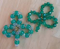 happier than a pig in mud simple beaded shamrock ornament or