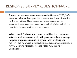 Interior Design Questionnaire 2012 California Building Department Survey Report Interior Design