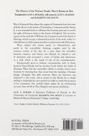 the history of the norman people wace u0027s roman de rou wace glyn