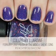 colors by llarowe february 2017 polish of the month swatches