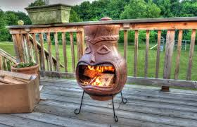 terracotta chiminea outdoor fireplace home interior design simple