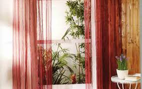 Cherry Kitchen Curtains Red Sheer Curtains 1 Panel Nancy Solid Red Semi Sheer Window Faux