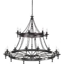 Black Gothic Chandelier Gothic Lighting Black Wrought Iron And Rustic Lights