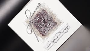 silver wedding anniversary invitations anniversary cards
