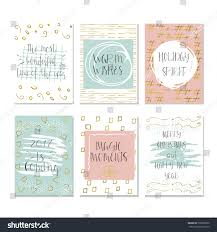 set 6 cute christmas cards quote stock vector 530655850 shutterstock