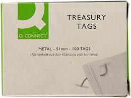 treasury tags q connect metal ended treasury tags pk 100