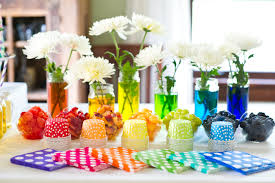 cheap table centerpieces party table decorating ideas how to make it pop