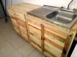 Storage In Kitchen Cabinets by Kitchen Wholly Made From Recycled Pallets 99 Pallets