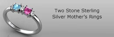 2 mothers ring 2 sterling silver mothers rings