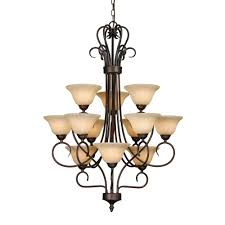 3 Tier Chandelier Golden Lighting Maddox Collection 12 Light Rubbed Bronze 3 Tier