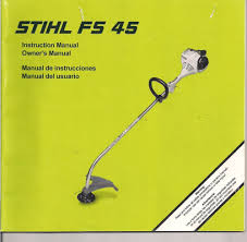 stihl fs45 string trimmer owners instruction maintenance assembly