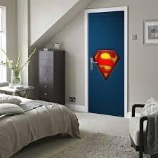 wandbild schlafzimmer kostenloser versand superman zeichen tür wandaufkleber diy