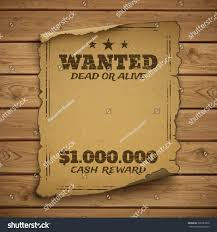 wanted dead alive west grunge stock vector 309787826