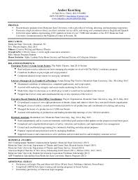 Honors And Awards In Resume Resume
