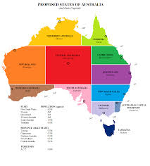 states australia map proposed states of australia and their capitals x post r
