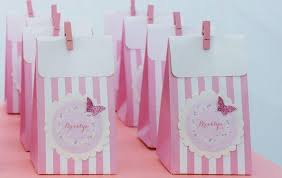 pink favor bags butterfly themed baby shower party baby shower ideas and shops