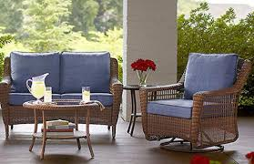 home depot patio table spring haven brown collection outdoors the home depot