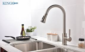 high flow kitchen faucet kingo home commercial high arch stainless steel single lever