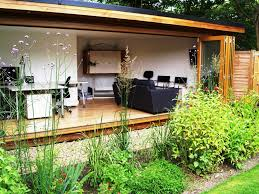full glass front bifold doors garden studio sanctuary