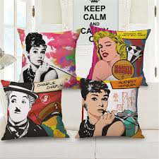 chaplin pop art bedroom office chair cushion cover home decor