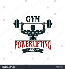 gym powerlifting bodybuilding sport club icon stock vector