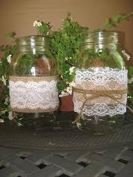 burlap and lace mason jar centerpiece burlap mason jars get