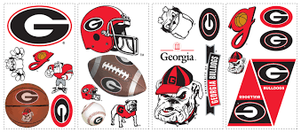 Georgia Bulldog Home Decor University Of Georgia Bulldogs Removable Wall Decals Wall2wall