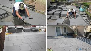 installation in offset or t joint warco rubber tiles